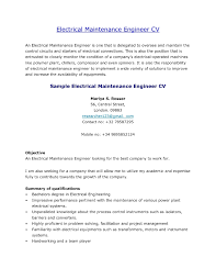 Maintenance Resume Sample Resume Sample Of Mechanical Maintenance Engineer Best Resume 46