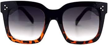 Womens Oversized <b>Fashion Sunglasses Big</b> Flat Square Frame UV ...