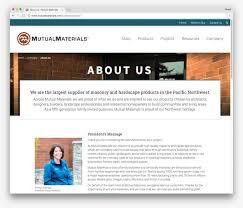 About Us Page Design For Website Building Material Website Design Jordan Crown