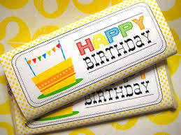 chocolate bar wrappers free printable happy birthday candy bar wrapper the joy of giving