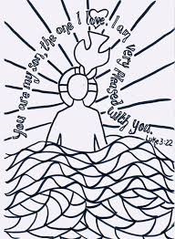 Jesus Being Baptized Coloring Page Printable Coloring Page For Kids