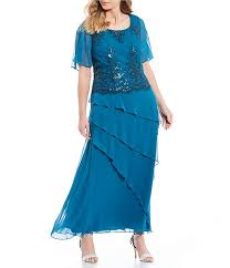 Le Bos Size Chart Le Bos Plus Size Mock 2 Piece Embroidered Tiered Long Dress