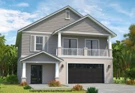 South Carolina Elevated Beach House  Home Bunch U2013 Interior Design Elevated Home Plans