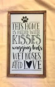 dogs home wood sign rustic wall decor shabby chic dog house wooden signs bone