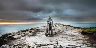 king arthur statue tintagel cornwall