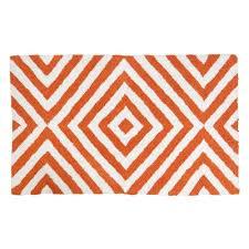 arcade orange white bath rug bathrooms bath rugs