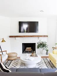 modern mantle ideas maison de pax via sarah sherman samuel painted brick fireplace