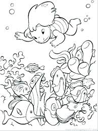 Printable Ocean Pictures Coloring Page Ocean Kids Color Page Free