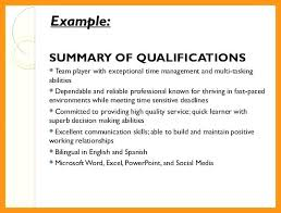 Examples Of Qualifications For Resumes Qualification For Resume Airexpresscarrier Com