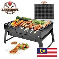 outdoor portable folding bbq charcoal grill picnic bbq grill for barbecue camping