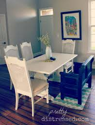 Kitchen Table Paint Pretty Distressed Using A Polycrylic Sealer With Chalk Paintar