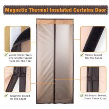 Magnetic Curtains For Doors Magnetic Thermal Insulated Door Curtain Enjoy Your Cool Summer And