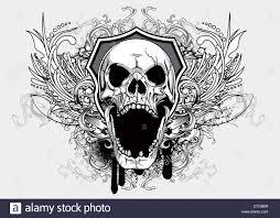 Design Skull T Shirt Vintage T Shirt Design With Skull Stock Photo 49444859 Alamy