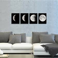 wieco art modern giclee canvas prints stretched artwork abstract space black and white pictures to photo paintings on canvas wall art for home office  on wall art black and white photography with wieco art modern giclee canvas prints stretched artwork abstract