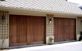 wooden torsion spring garage door