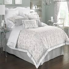 comforter sets gray white fl damask silk comforter modern white fabric bedskirt high stainless steel
