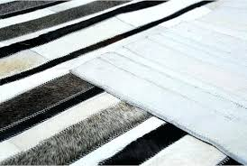 grey and white striped rug white gray and black leather area rug in stripes with backing