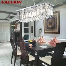 dining room crystal chandeliers canada modern rectangular led pendant lamp indoor art