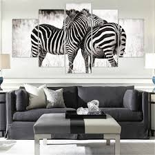 Zebra Living Room Decor Zebra Oil Painting Promotion Shop For Promotional Zebra Oil