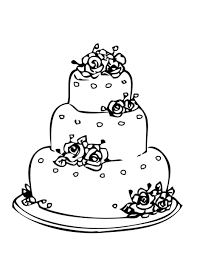 Wedding Cake Coloring Page For Drawing 1 cakepins.com | winter in ...