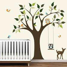image of tree wall decals for nursery