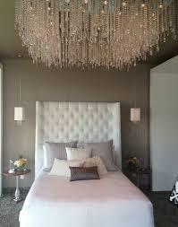 furniture best design ideas of elegant tufted headboards cool bedroom with white color platform bed combine chic crystal hanging chandelier furniture hanging