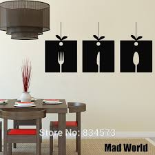 mad world knife fork spoon kitchen silhouette wall art sticker wall decal home diy decoration on knife fork spoon kitchen wall art with mad world knife fork spoon kitchen silhouette wall art sticker wall