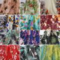 Elegant <b>Floral</b> Print Material Lotus Pink <b>Chiffon Dress Fabric</b>-in ...