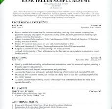Resume Examples For Bank Teller Cover Letters For Bank Tellers ...