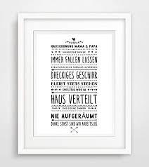 Hausordnung Oma Und Opa Leben Sprüche Fine Art Print Poster