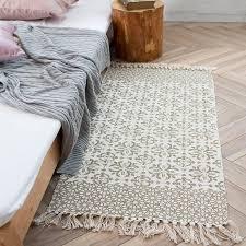 cotton hand woven checd striped black white rug tassels design area rugs machine washable rug pad bohemia kilim vinyl carpet plush carpet tiles from