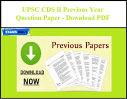 Download Paper Upsc Cds Ii Previous Year Question Paper Download Pdf