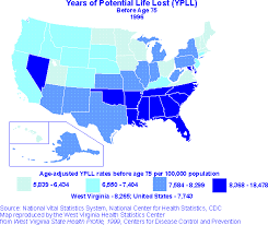Lost Of Potential Virginia Atlas Life West Health Years Status
