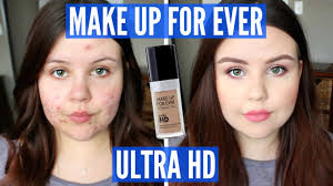first impressions make up for ever ultra hd foundation oily acne you
