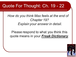 freak the mighty by rodman philbrick into the black down under 2 quote