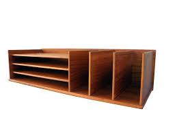 desk letter organizer danish modern teak desktop by this vintage from is made of wood holder