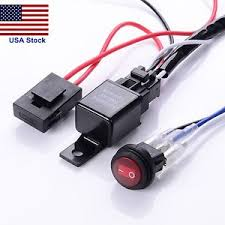 fog light wiring harness 12v 40a led work fog light bar wiring harness relay kit on off switch off