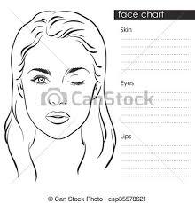 Art Chart Woman Portrait Face Chart Vector
