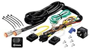 led hid halogen light wiring solutions harnesses kc hilites wiring harness 40 amp relay and led rocker switch kc 6315