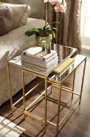 gold and glass nightstand. Interior Design Trends Gold Ethan Allen Mirror Top Golden Side Tables For And Glass Nightstand