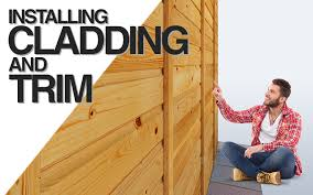 how to clad a shed trim it