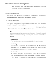 srs library management system  10 software requirements specification for library