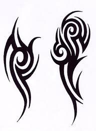 Black Tribal Tattoo Design For Men тату Pinterest Tatuajes