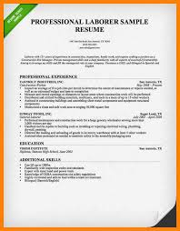 8 Construction Resume Objective Free Ride Cycles