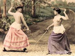 best female duelists images fencing movie photographic postcards and toward the end of the 19th century stereoscopic views of sword