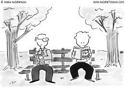 book cartoon 807 man reading book enled how to read