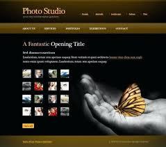 Web Template For Photographer Adobe Flash Website Templates
