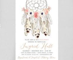 Dream Catcher Baby Shower Invitations Boho Baby Shower Invitation Girl Printable Tribal Aztec 44
