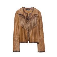 zara fringe leather jacket
