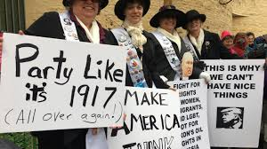 You can t hide from us marchers send powerful message to Trump